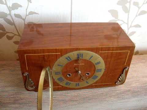 Часы настольные,каминные Янтарь с боем 1977г.