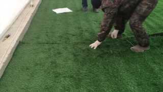 видео искусственная трава