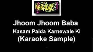 Jhoom Jhoom Jhoom Baba Karaoke Sample.mpg