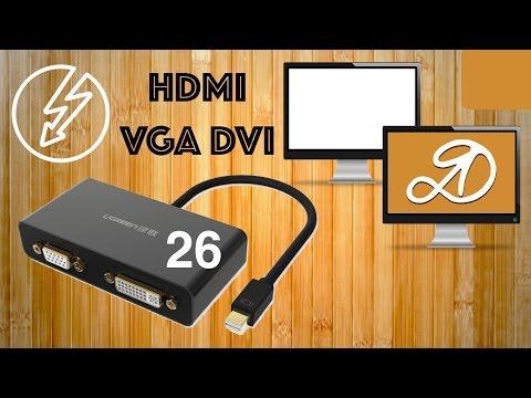 Ugreen Thunderbolt Mini DisplayPort to HDMI VGA DVI Cable adapter converter. Parcel AliExpress (26)