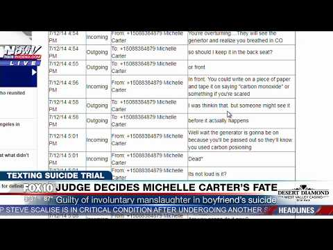 Thumbnail: FULL READING of DISTURBING Text Messages Between Michelle Carter & Conrad Roy the Day of Suicide