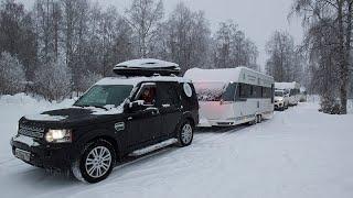Зимние путешествия с домом на колесах, организованные компанией Дом в дорогу Красивая галерея с фото