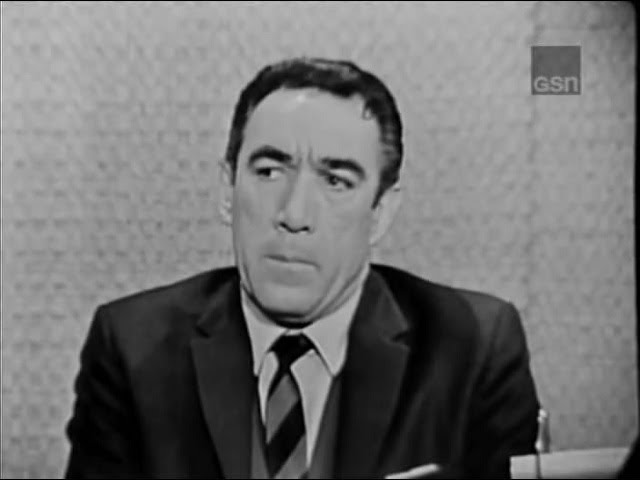 What\'s My Line? - Anthony Quinn; Peter Cook, Phyllis Newman & Martin Gabel [panel] (Feb 3, 1963)