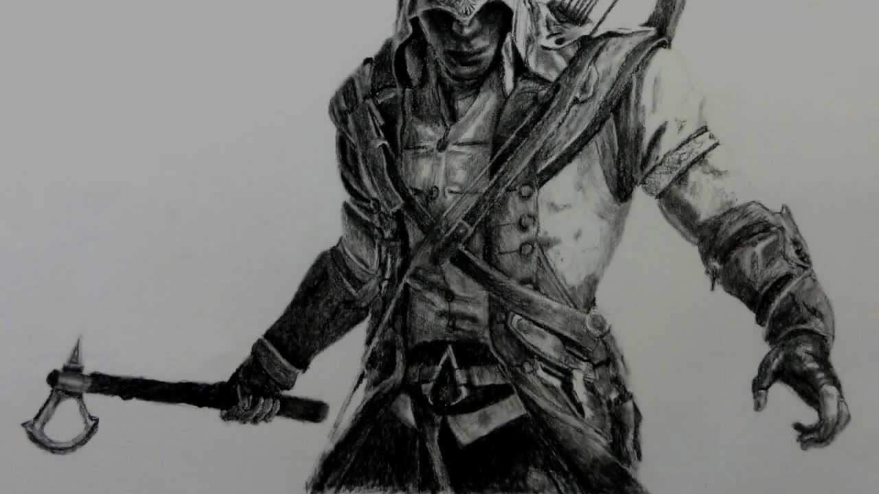Assassin S Creed 3 Connor Drawing Youtube