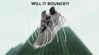 Will it Bounce? Throwing the Alpha Bounce Shoe Off a Building like a Bouncing Ball