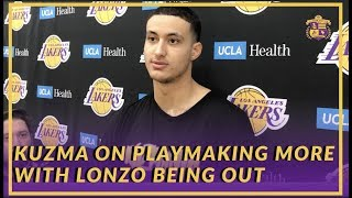 Lakers Interview: Kyle Kuzma on Playmaking More with Lonzo Ball Being Out For An Extended Period