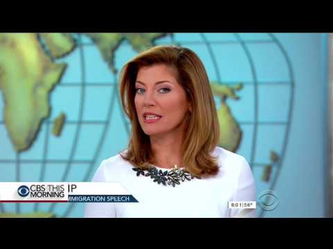 Norah O'Donnell - white dress and high heels -  Aug 31, 2016