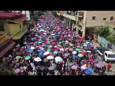 Aerial shot of Cardinal Vidal's burial in Cebu City