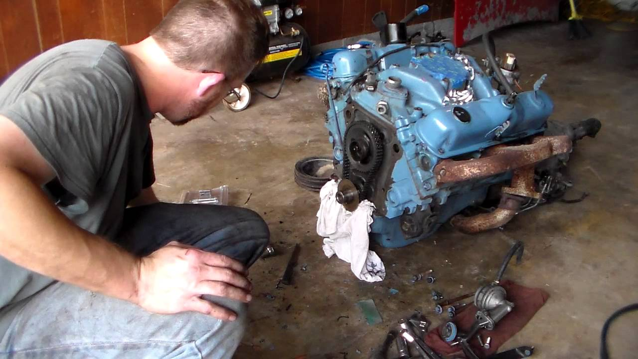 Dodge 318 Timing Cover Gasket Replacement Part 4 Youtube