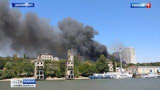 Площадь пожара в Ростове-на-Дону достигла 10 тысяч квадратных метров