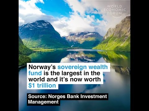 Norway's sovereign wealth fund is the largest in the world and it's now worth $1 trillion