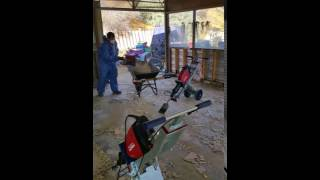 Video of The Watts asbestos removal electirc chisel efficeincy which halves the time it takes to rem