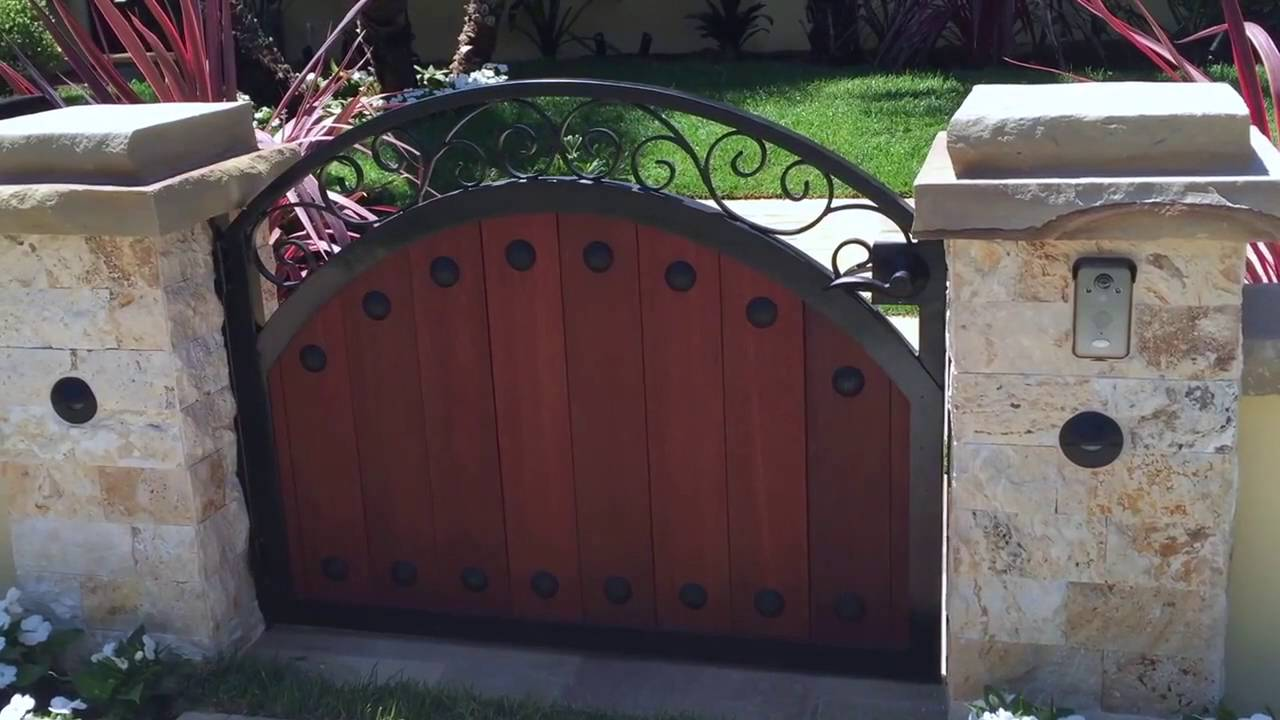 Front Yard Gate Four Wood & Iron Gates | Beverly Hills | Mulholland
