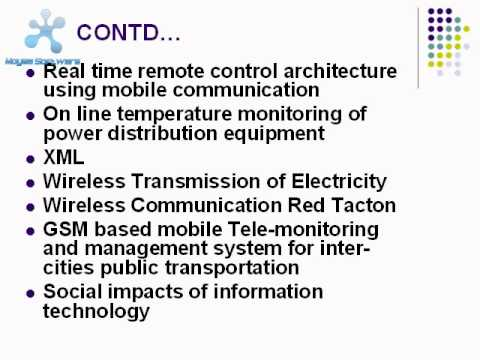 Important Seminar topics for CS, MECH, ELECTRONICS ENGINEERS