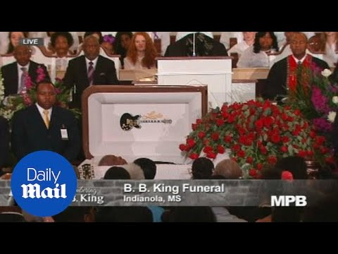 Family and friends pay tribute at blues legend B.B. King's funeral - Daily Mail