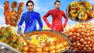 सड़क का खाना Street Food Comedy Video हिंदी कहानिया Kahaniya Hindi Bedtime Moral Stories Fairy Tales