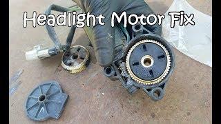 How to Replace Headlight Motor Gear Pontiac Firebird Trans Am (Pop Up Motor Fix)