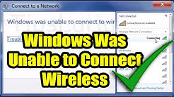 Windows was Unable to Connect WiFi Hotspot  / WiFi is not connecting