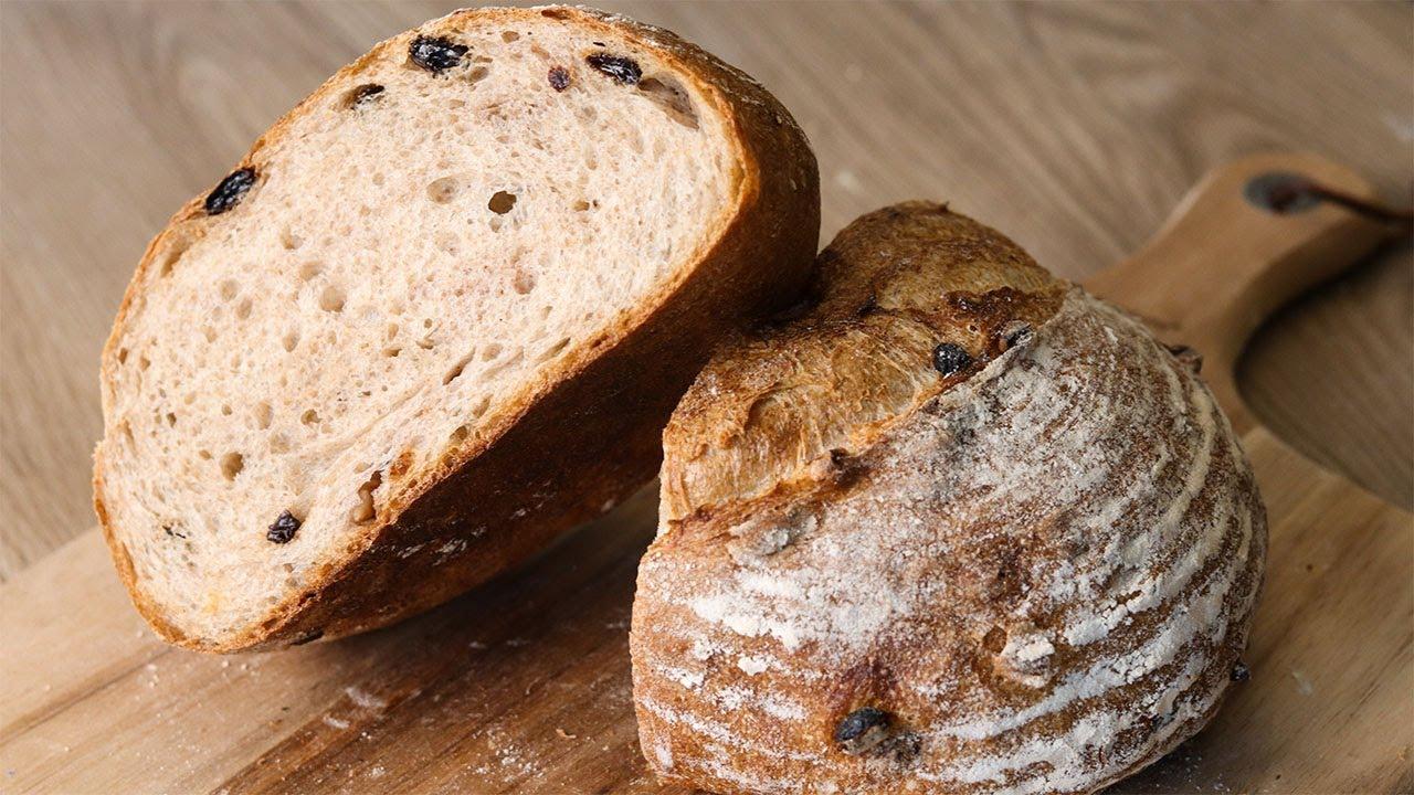 核桃提子欧包 Walnut and Raisin Bread