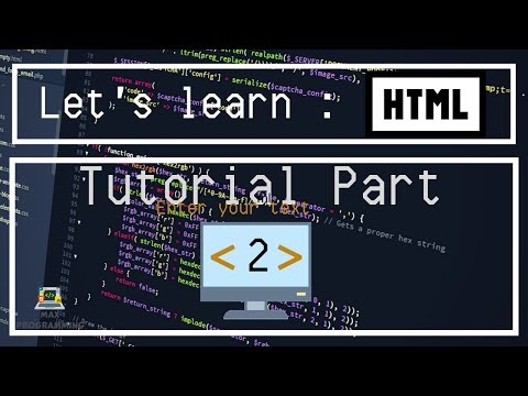 Let's Learn: HTML Tutorial 2 - Formatting Text in HTML thumbnail