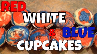 Red, White And Blue Cupcakes!  Perfect Party Cupcakes!
