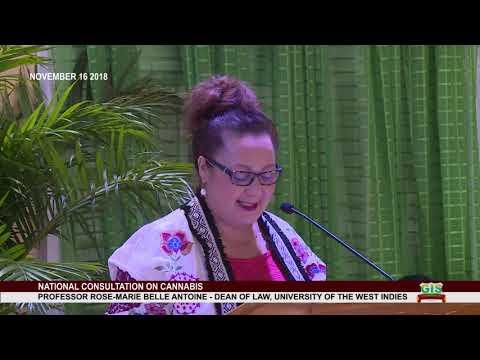 Professor Rose-Marie Belle Antoine addresses National Consultation on Cannabis