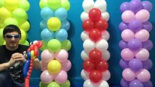 Kolay Dolar Mağaza Balon Sütunlar Öğretici!