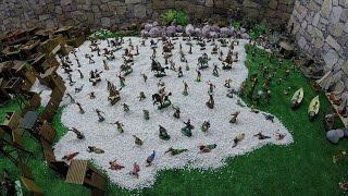 Солдатики игрушки играть с детьми игра как мультики лего роботы война про солдатиков Форт Техас 143