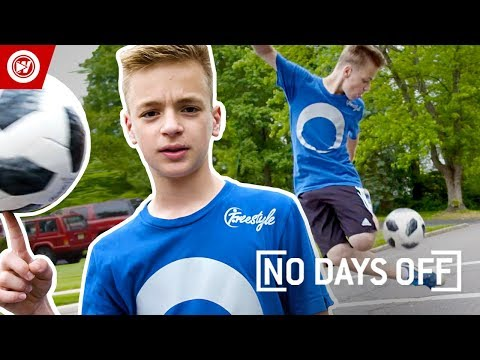 13-Year-Old With INCREDIBLE Freestyle Soccer Skills