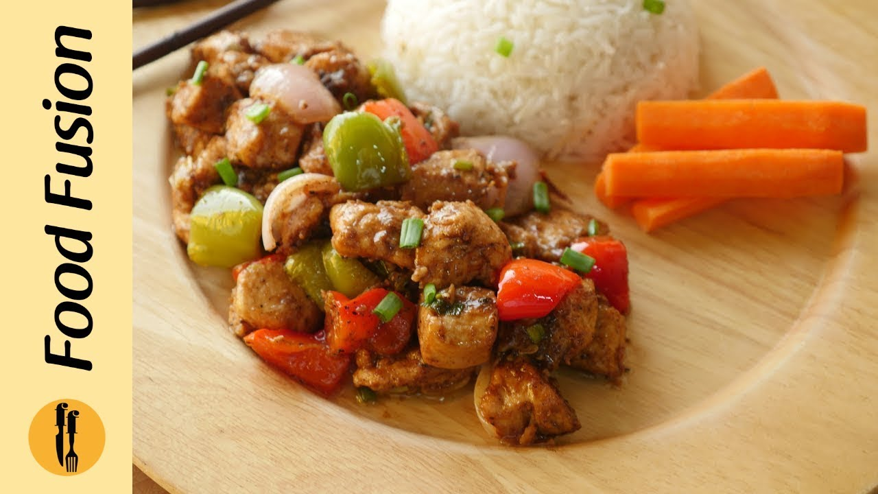 Black Pepper Chicken Recipe By Food Fusion Youtube Healthy Sushi Recipes Recipes With Chicken And Peppers Food