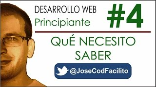 Qué necesito saber para hacer mi Página Web @JoseCodFacilito