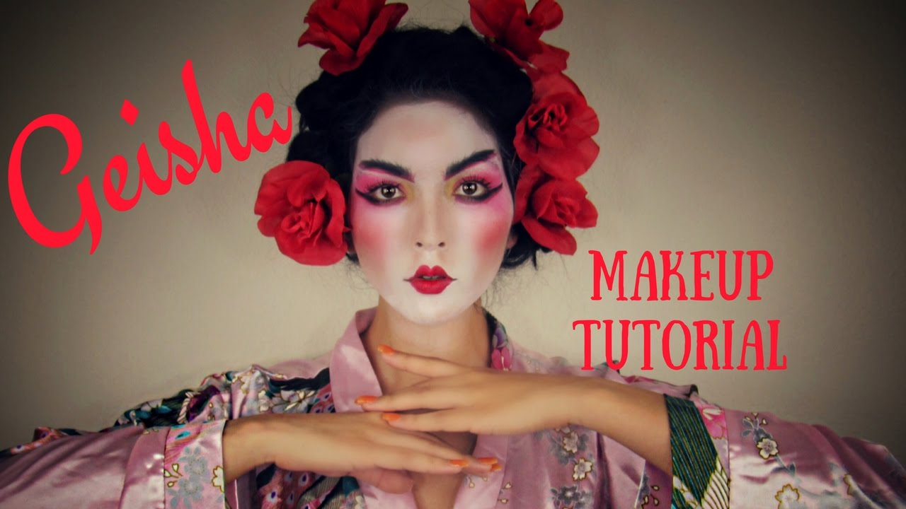 geisha makeup tutorial for halloween or just for fun youtube