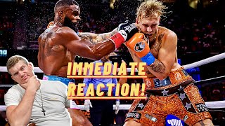REACTING To Jake Paul VS Tyron Woodley ... *My Thoughts* Wonderboy Thompson