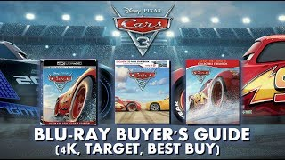 CARS 3 - BLURAY UNBOXING (4K, TARGET, BEST BUY) BLURAY BUYERS GUIDE