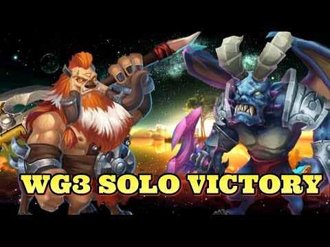 Castle Clash Wretched Gorge 3 Solo Victory!
