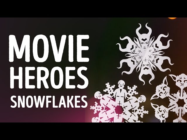 How to make character snowflakes in less than 5 minutes! l 5-MINUTE CRAFTS