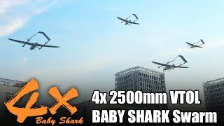 4x 2500mm VTOL BABY SHARK Group Flying Test