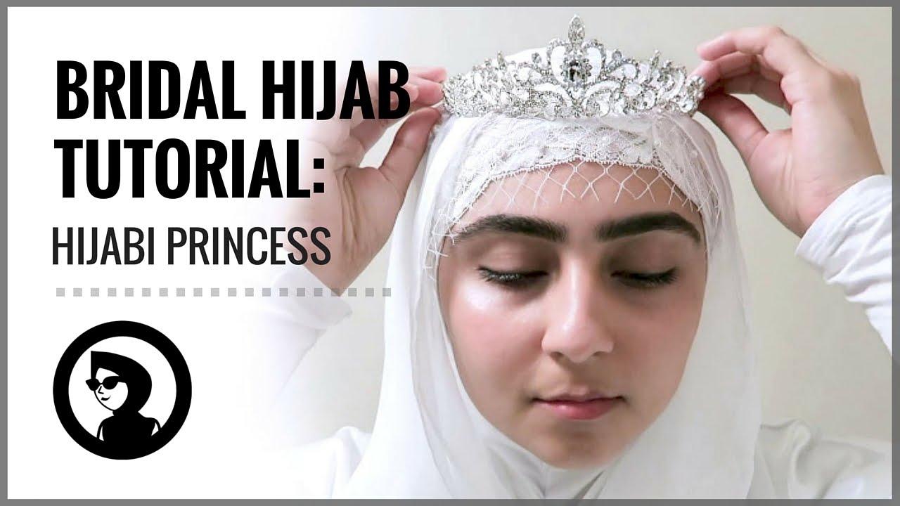 Bridal Hijab Tutorial For Weddings And Parties Hijabi Princess Youtube