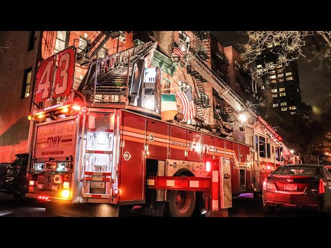 Bar Fire Sends Patrons scrambling into the cold - East 85th St and 1st Ave - FDNY Box 1158