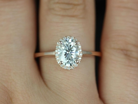 oval engagement rings and wedding bands on hand - Oval Wedding Rings