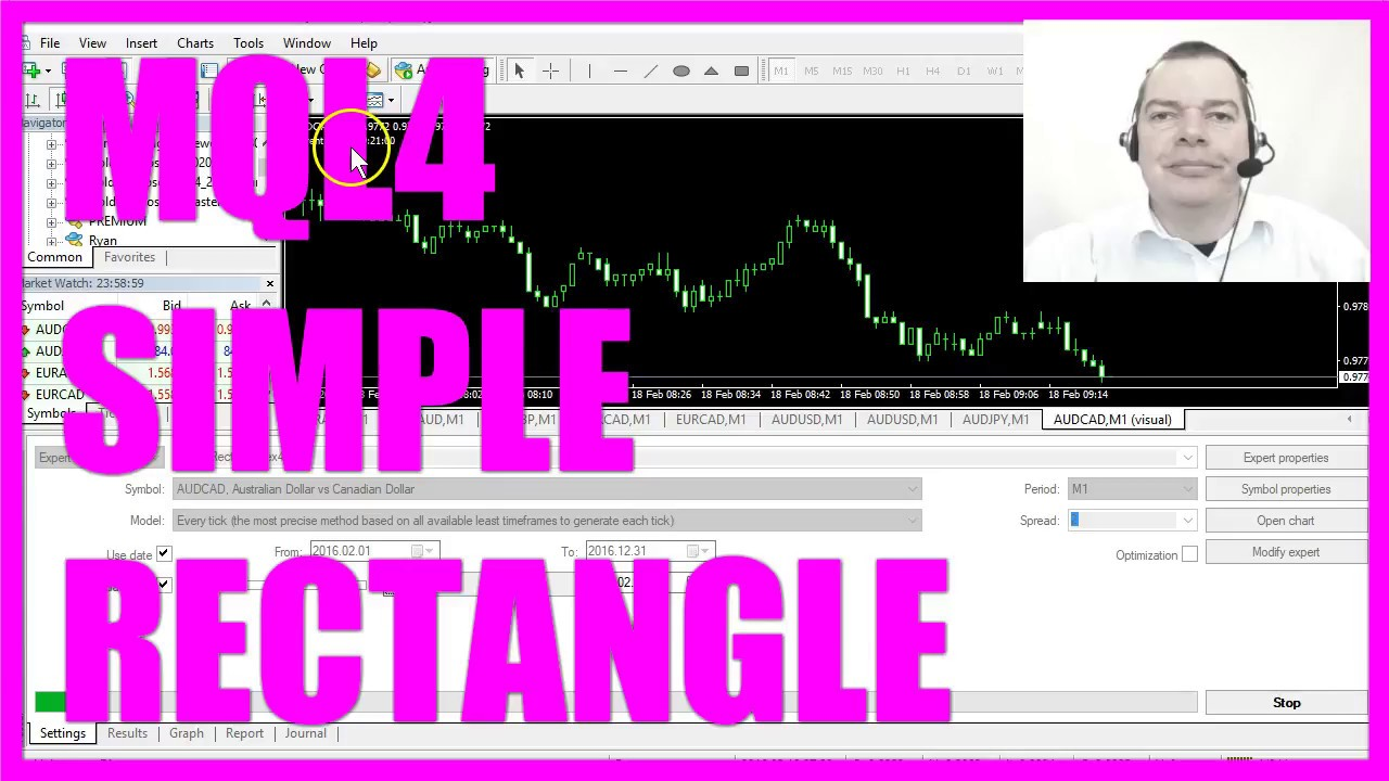 Mql4 Tutorial Simple Rectangle Object Youtube
