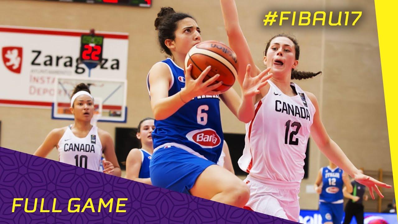 Canada v Italy - Quarter Final - Full Game - FIBA U17 Women s World  Championship 2016 6a84c3fa80