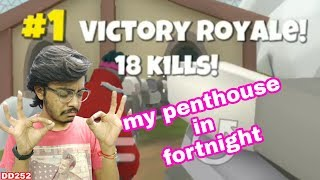 My penthouse in fortnight   Trainer.io gameplay   fortnight in android   #game DD252