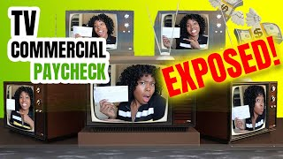 SAG COMMERCIAL PAYCHECK 💰How Much I Got Paid For My TV Commercial!
