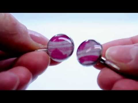 How to use Textiles, Resin and Earring Blanks