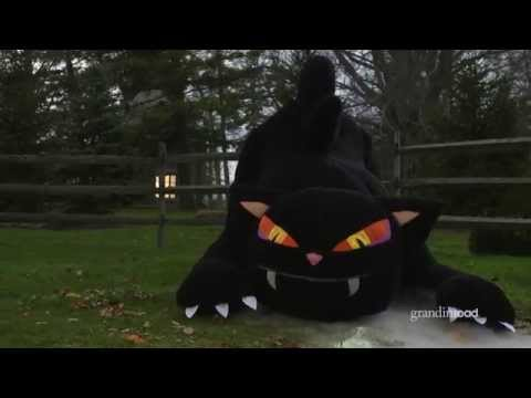 Inflatable Furry Black Cat