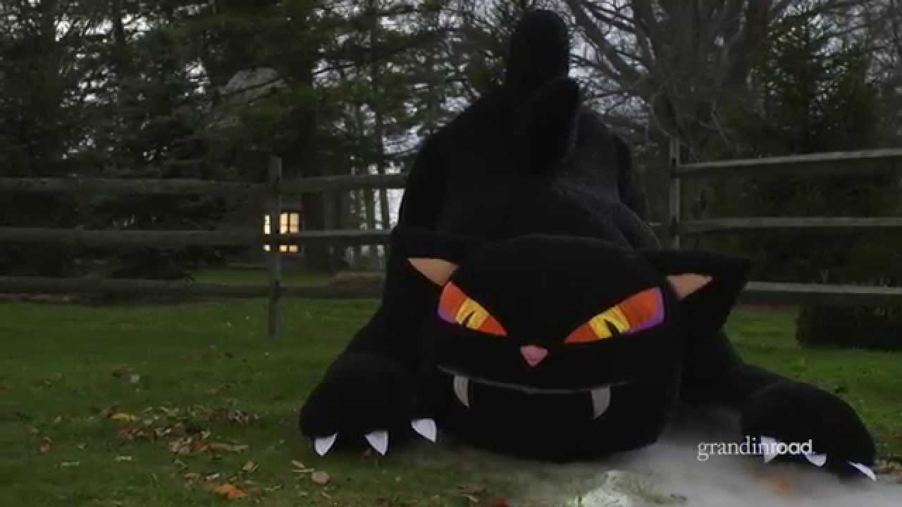 Inflatable Furry Black Cat - YouTube
