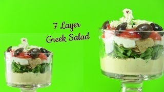 Quick & Healthy Seven Layer Greek Salad Video Recipe By Bhavna