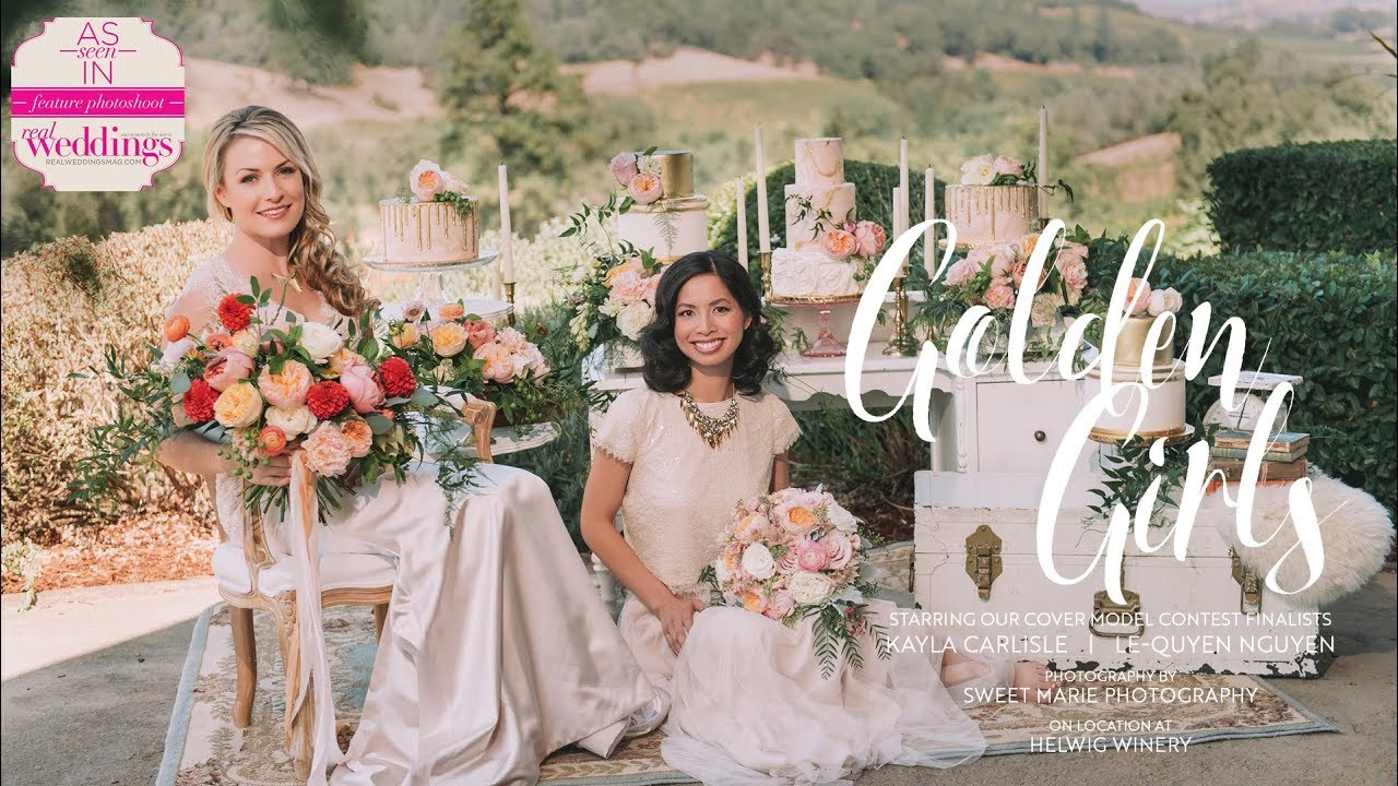 Real Weddings Youtube: Sacramento Wedding Inspiration: Golden Girls {The Layout