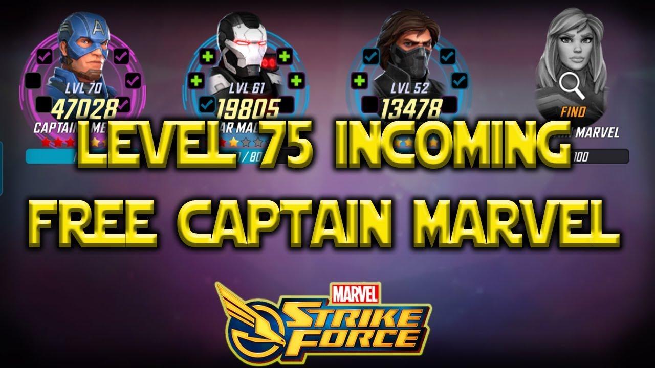 Free Captain Marvel - Level 75 Incoming? - Marvel Strike Force - MSF